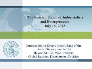 Introduction to Export-Import Bank of the United States presented by