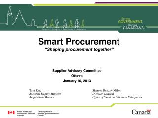 "Smart Procurement ""Shaping procurement together"""