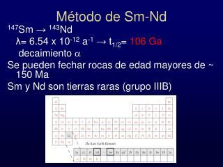 Método de Sm-Nd