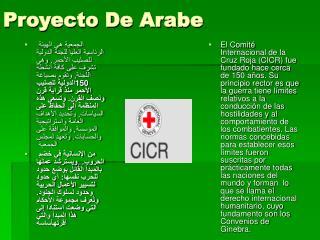 Proyecto De Arabe