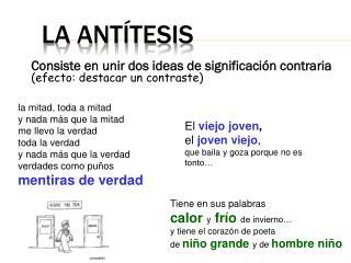 la antítesis