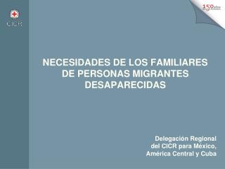 NECESIDADES DE LOS FAMILIARES  DE PERSONAS MIGRANTES DESAPARECIDAS