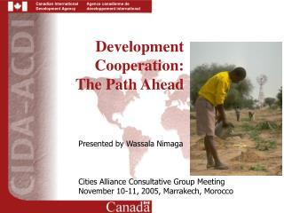 Development Cooperation:  The Path Ahead