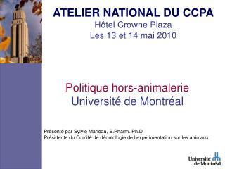 Politique hors-animalerie Université de Montréal