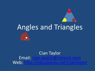 Angles and Triangles