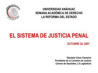 EL SISTEMA DE JUSTICIA PENAL OCTUBRE 24, 2007