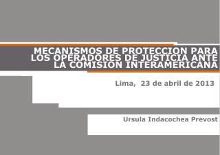 Lima,  23 de abril de 2013