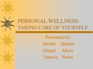 Family and Personal Health
