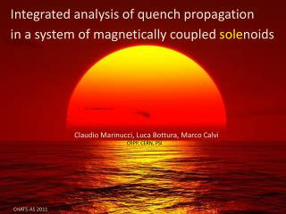 Integrated analysis of quench propagation in a system of magnetically coupled  sole noids