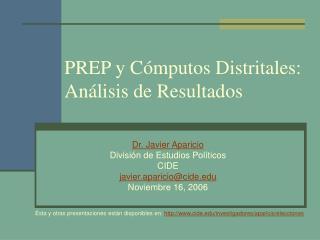 PREP y Cómputos Distritales: Análisis de Resultados