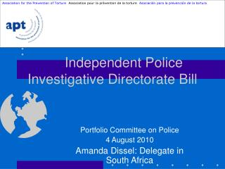 Independent Police Investigative Directorate Bill