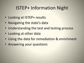 ISTEP+ Information Night