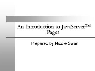 An Introduction to JavaServer™ Pages