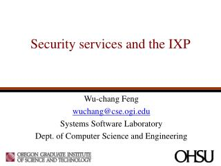 Security services and the IXP