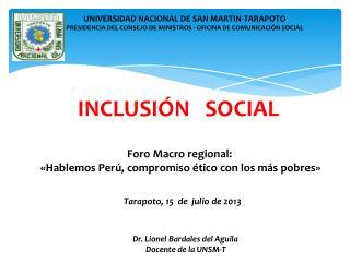 INCLUSI�N   SOCIAL
