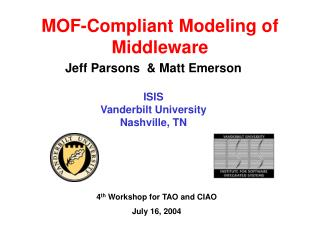 MOF-Compliant Modeling of Middleware