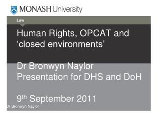 Dr Bronwyn Naylor