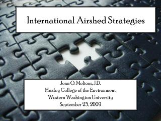 International Airshed Strategies