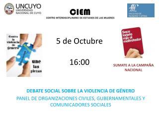 DEBATE SOCIAL SOBRE LA VIOLENCIA DE G�NERO