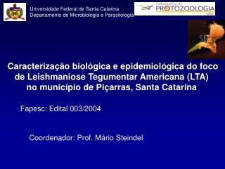 Caracterização biológica e epidemiológica do foco de Leishmaniose Tegumentar Americana (LTA)