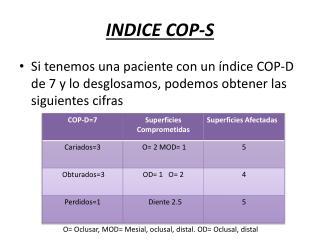 INDICE COP-S