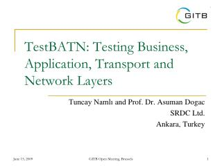 TestBATN: Testing Business, Application, Transport and Network Layers