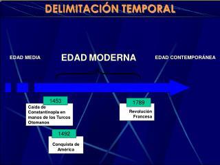 DELIMITACI�N TEMPORAL