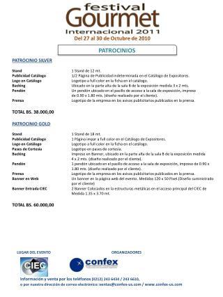 Informaci�n y venta por los tel�fonos  (0212) 243 6434 / 243 6610,