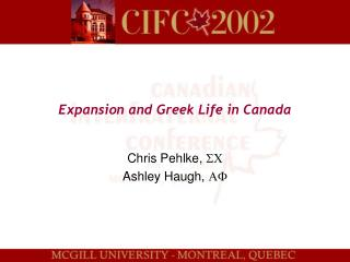 Expansion and Greek Life in Canada