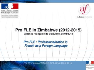 Pro Fle implementation in Zimbabwe (2012-2015)