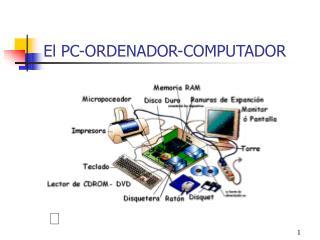 El PC-ORDENADOR-COMPUTADOR