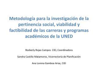 Rosberly  Rojas Campos  CIEI, Coordinadora