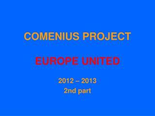 COMENIUS PROJECT EUROPE UNITED