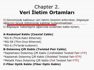 Chapter 2. Veri İletim Ortamları