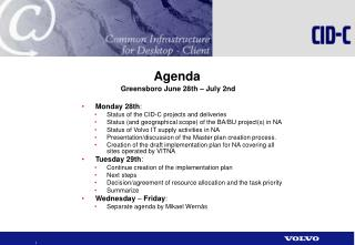 Agenda Greensboro June 28th – July 2nd