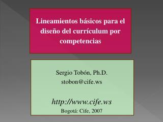 Lineamientos básicos para el diseño del currículum por competencias
