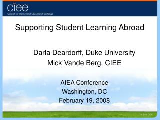 Supporting Student Learning Abroad