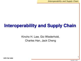 Interoperability and Supply Chain