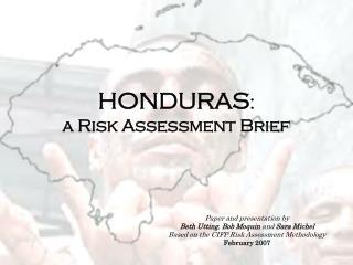 HONDURAS :  a Risk Assessment Brief