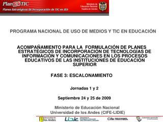 PROGRAMA NACIONAL DE USO DE MEDIOS Y TIC EN EDUCACIÓN