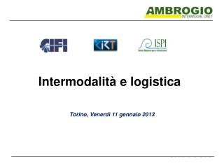 Intermodalità e logistica
