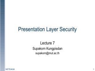 Presentation Layer Security