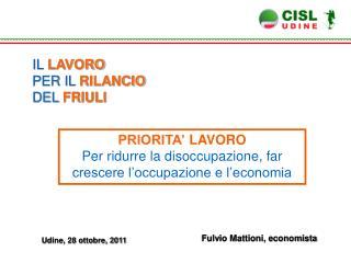Fulvio Mattioni, economista