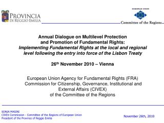 Annual Dialogue on Multilevel Protection  and Promotion of Fundamental Rights: