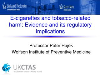 E-cigarettes and tobacco-related harm: Evidence and its regulatory implications