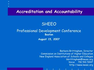 Accreditation and Accountability