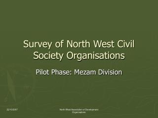 Survey of North West Civil Society Organisations