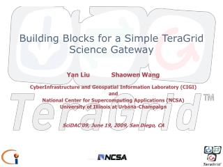 Building Blocks for a Simple TeraGrid Science Gateway