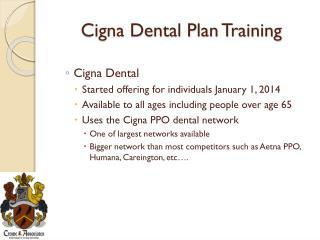 Cigna Dental Plan Training