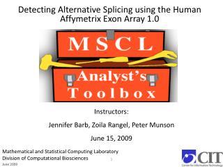 Detecting Alternative Splicing using the Human Affymetrix Exon Array 1.0